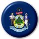 Maine State Flag 25mm Pin Button Badge